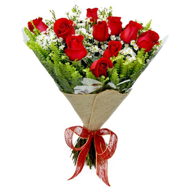 Buquê com 15 Rosas